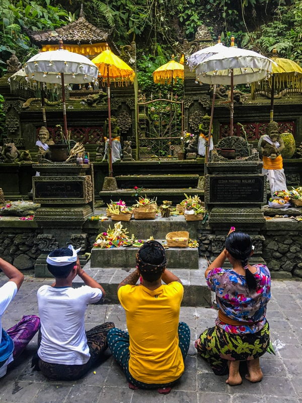Las ofrendas son muy características en Bali. Fotografía: Ana Lucía Fariña Vargas
