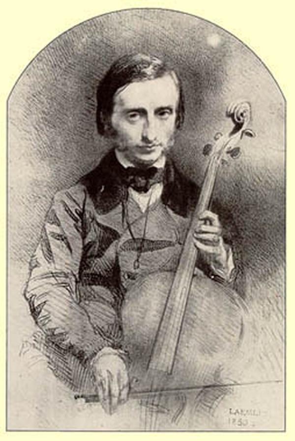 Jacques Offenbach (1819–1880) también fue un buen chelista. Imagen: Wikimedia Commons.