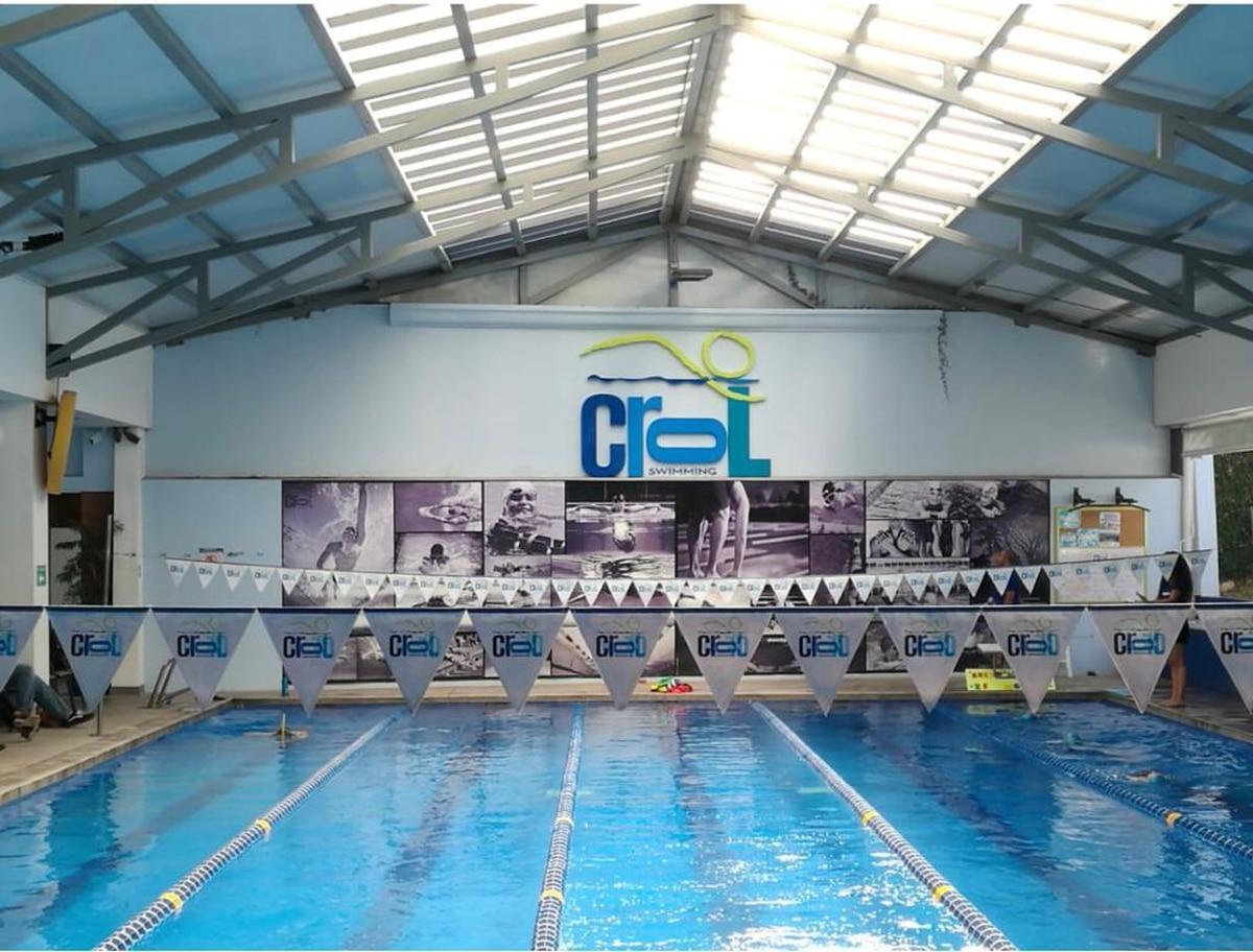 La academia Crol Swimming tiene tres sedes, la primera nació hace 8 años en Escazú. Foto: Cortesía Crol Swimming.