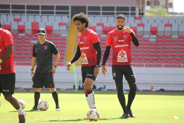 Alajuelense se entrenó este miércoles en el Estadio Nacional. Fotografía: Prensa Alajuelense
