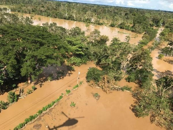 Estas son tomas aéreas de la afectación del huracán Otto en San Isidro y San Antonio de Yolillal, en el Norte de Upala.