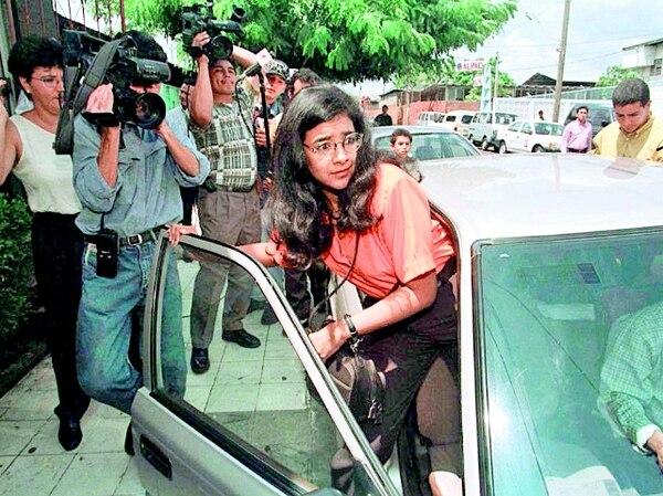 Zoilamérica elevó su caso en contra de Ortega a la Corte Interamericana de Derechos Humanos, pero ella misma lo retiró diez años después, en 2008. La imagen data de finales de los 90, cuando ella todavía residía en Managua. ARCHIVO