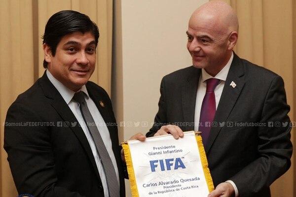El presidente de la Federación Internacional de Fútbol Asociado (FIFA), James Infantino, quien está en el país, anunció en conferencia de prensa, junto al presidente de Costa Rica, Carlos Alvarado, que Tiquicia y Panamá organizarán la Copa Mundo Sub-20 femenina del próximo año.