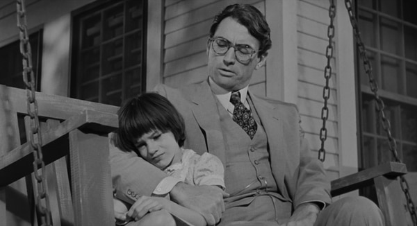 Gregory Peck (Atticus Finch) y Mary Badham (Scout).