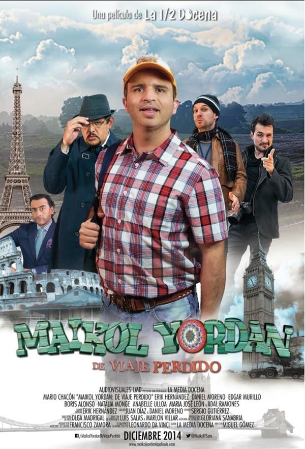 Este es el afiche de la película Maikol Yordan de viaje perdido.
