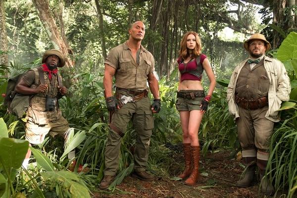 El elenco estelar de 'Jumanji: Welcome to the Jungle'.