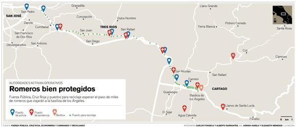 Operativos de seguridad en ruta San José - Cartago