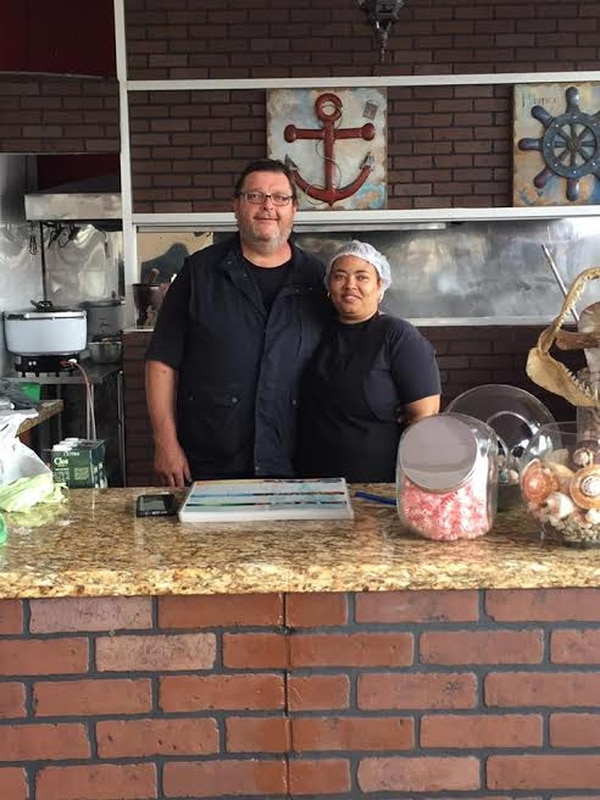 Guido Kozmann y Cruz María Rodríguez, dueños de La Cambusa. Foto: Pablo Kozmann