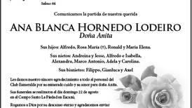 Ana Blanca Hornedo Lodeiro