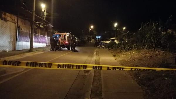 Una balacera en San Francisco, Cartago, dejó un fallecido en Cartago. Foto: Keyna Calderón, corresponsal GN