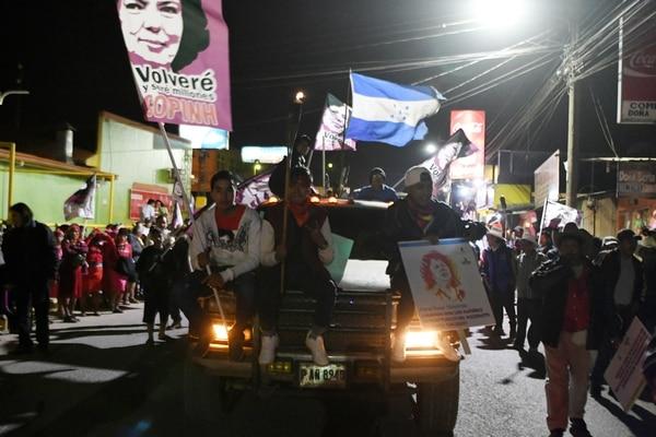 Los nativos lencas hondureños participaron de una protesta para exigir justicia en el asesinato de la activista hondureña Berta Cáceres, durante el segundo aniversario de su muerte. Foto: AFP