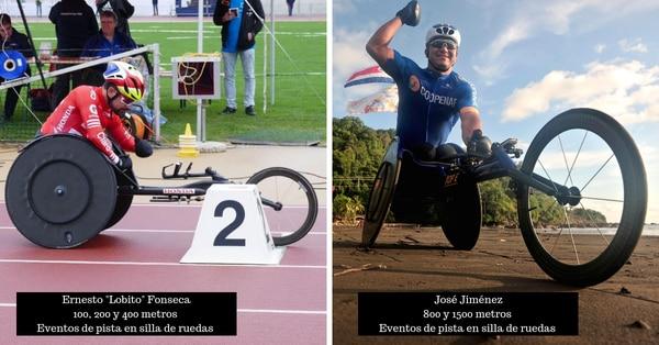 Ernesto 'Lobito' Fonseca y José Jiménez competirán en eventos de pista en silla de ruedas en el Open de Barranquilla. Ambos confían en mejorar sus marcas de cara a los Parapanamericanos de Lima 2019. Elaboración: Francesca Chinchilla