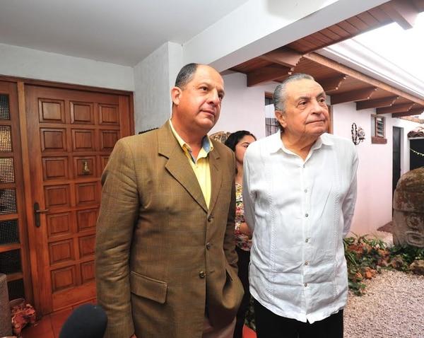 Solís se reunió a las 10 a. m. con Pacheco en la casa del expresidente en Rohrmoser.