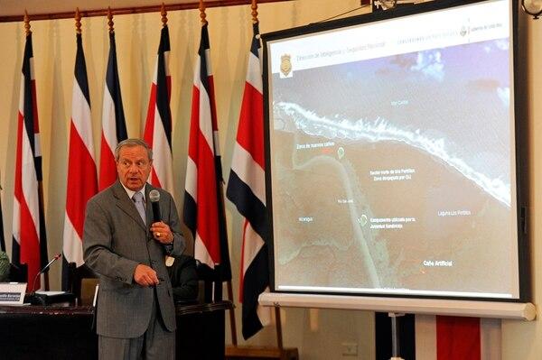 En setiembre, el canciller Castillo dio detalles de un nuevo reclamo contra Nicaragua por isla Calero.   MAYELA LÓPEZ