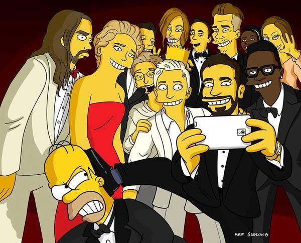El selfie inmortalizado por Matt Groening.