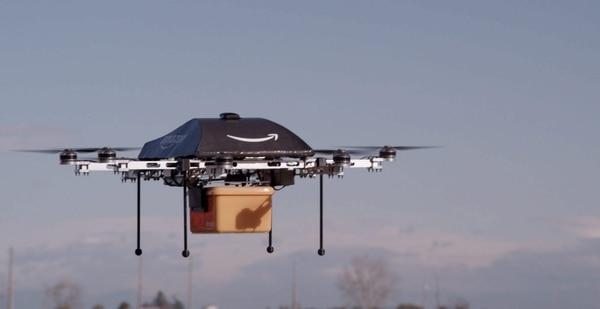 La muestra un avión no tripulado o