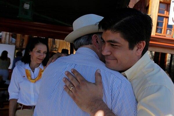 04/02/2018. Carlos Alvarado y Ottón Solís. Fotos: Mayela López