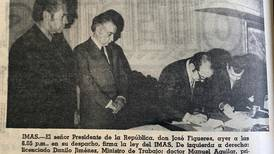 Hoy hace 50 años: Oficialmente, nació el IMAS