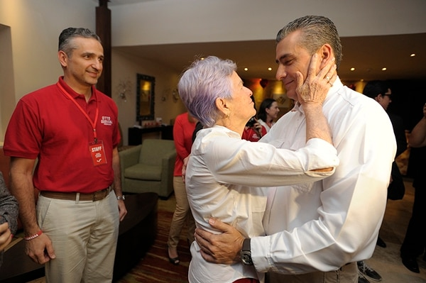 El candidato libertario votará en la mesa 159 del Liceo Julio Fonseca en La Uruca.
