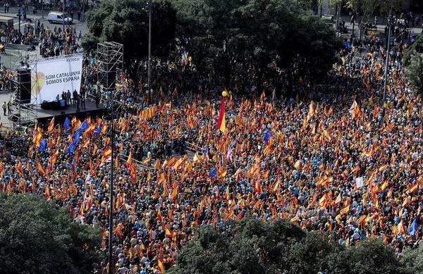 Manifestación en España Foto: AFP