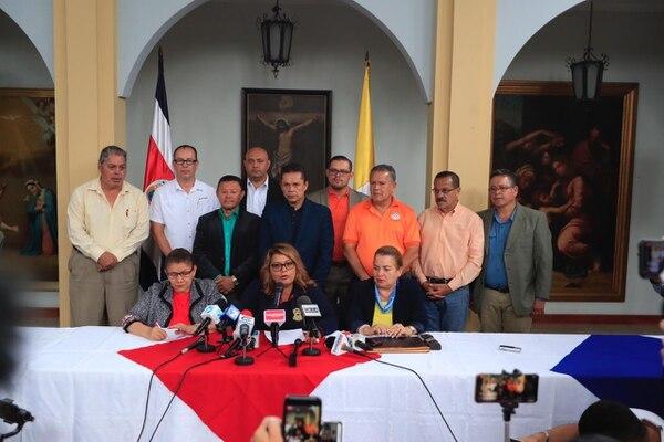 Los dirigentes sindicales dieron a conocer sus condiciones para entrar a fase de diálogo. Fotografía: José Cordero