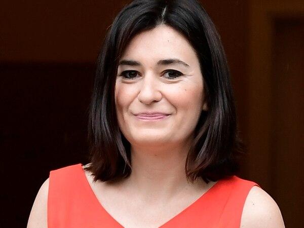 Carmen Montón participó en una reunión con el gabinete, en el Palacio de la Moncloa, en Madrid, el 8 de junio del 2018. Foto: AFP