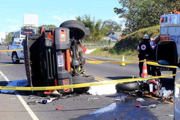 Accidente ocurrió este lunes 25 de diciembre en la ruta 27