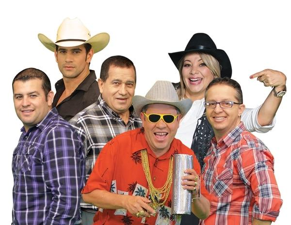 En elenco de Repretel | ESTÁN GUSTAVO RAMÍREZ, BRYAN GANOZA, MINO PADILLA, MARICRUZ LEIVA, EL GALÁN Y CHRISTIÁN HERNÁNDEZ. FOTO: CORTESÍA DE REPRETEL