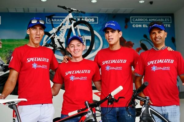 Paolo Montoya, Alexánder Sánchez, Iván Amador y William Sánchez pretenden darle múltiples alegrías a su equipo. | ALONSO TENORIO