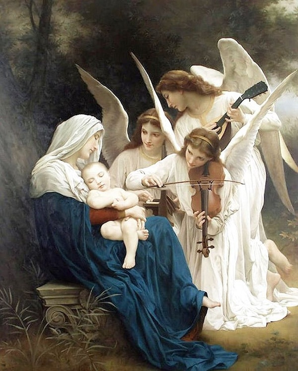 'A song of the angels' de William-Adolphe Bouguereau.