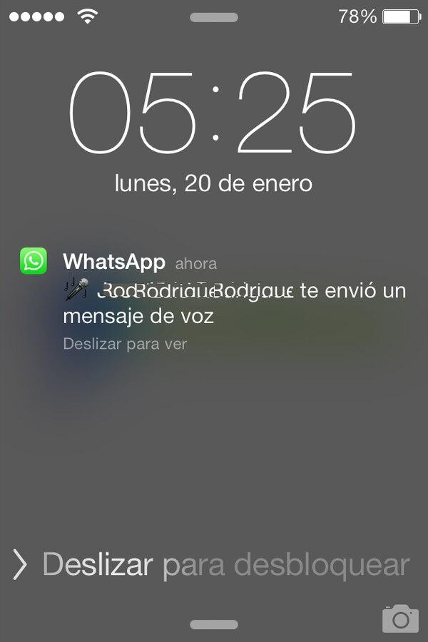 WhatsApp permite enviar y recibir mensajes de voz