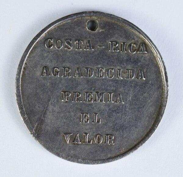 La medalla de 1858 fue elaborada en la Casa de la Moneda de Costa Rica y pesa 4,3 gramos. Foto: Museos del Banco Central para LN.