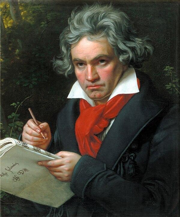 Retrato de Ludwig van Beethoven pintado por Joseph Karl Stieler en 1820. Foto: Wikimedia Commons.