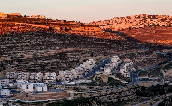 Asentamiento israelí de Givat Zeev, sito en las cercanías de la ciudad palestina de Ramalá, en Cisjordania.