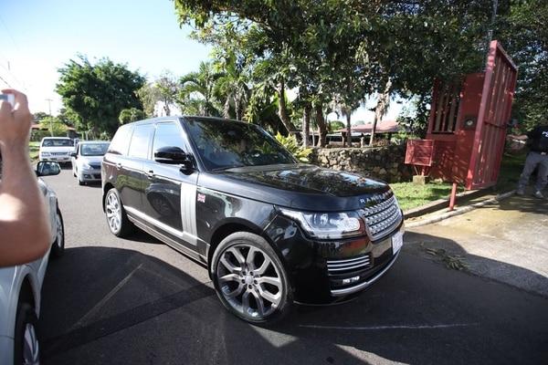 Bolaños viajaba con un acompañante en este Range Rover, modelo 2016, que aparece registrado en la página de marchamos del INS con valor fiscal de ¢96,6 millones. Foto Graciela Solís.