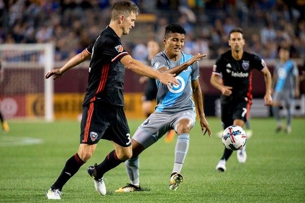Johan Venegas jugó en 22 encuentros del Minnesota United. (Courtney Pedroza/Star Tribune via AP)