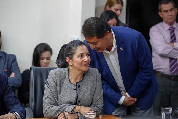 Paulina Ramírez, del PLN, tuvo el apoyo del PAC para llegar a la Presidencia de la Comisión de Hacendarios; Víctor Morales Zapata (de pie) fue postulado por Liberación para ser la cabeza del foro de Asuntos Económicos.