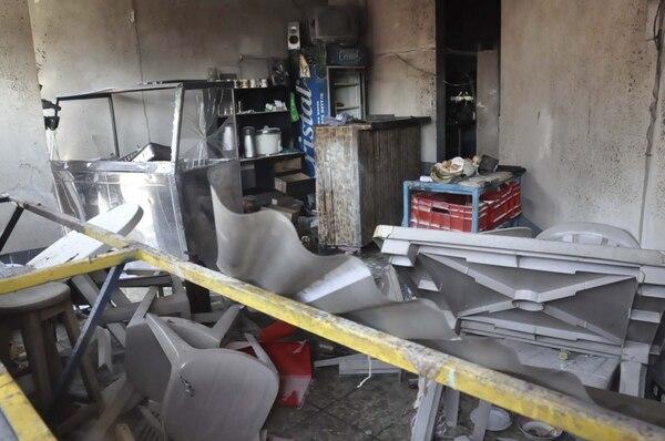 Así se ve hoy la soda Don Luis tras la emergencia provocada por la explosión de un cilindro de gas, ocurrida hace un año. Francisco Barrantes
