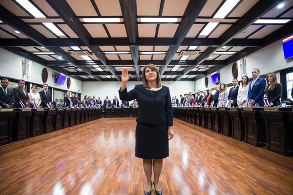 Patricia Solano Castro juró como magistrada de la Sala III este 7 de noviembre. Fotografía: Alejandro Gamboa Madrigal
