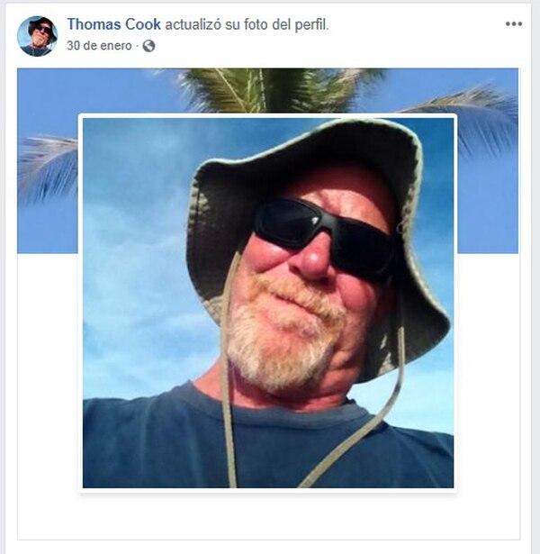Thomas Jeffry Cook, de 62 años, desapareció en Jacó. Foto: Tomada de Facebook