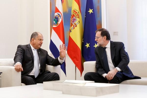 Solís se reunió este lunes con el presidente, Mariano Rajoy.