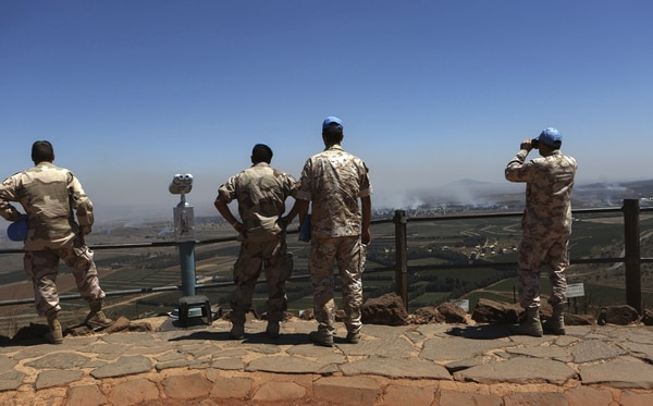 La Fuerza de las Naciones Unidas de Observación de la Separación en los Altos del Golán supervisa el acuerdo fronterizo entre Siria e Israel
