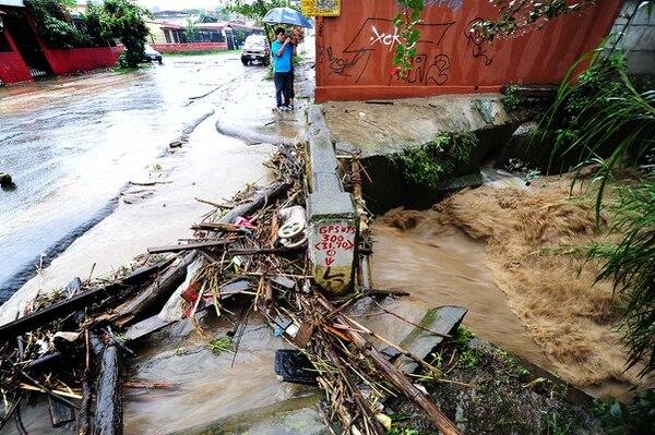 En San José las lluvias también fueron intensas y afectaron casas en varios puntos.