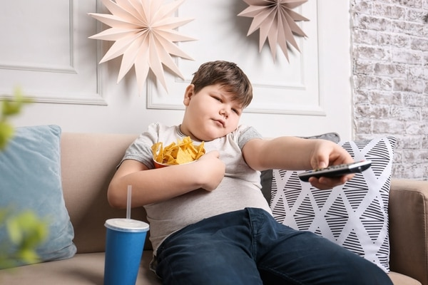 Obesidad infantil. Foto de Shutterstock con fines ilustrativos