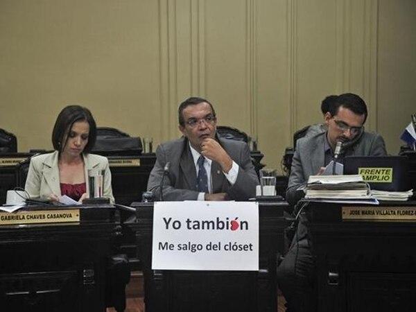Víctor Emilio Granados, ayer en la Asamblea Legislativa. | MAYELA LÓPEZ.