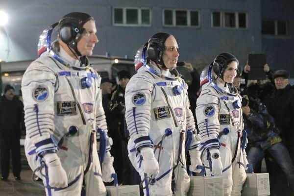 Terry Virts, Anton Shkaplerov y Samantha Cristoforetti partieron este domingo rumbo a la Estación Espacial Internacional