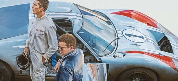 En un Ford, sí, en un Ford van a tocar la gloria. En la pista, los poderosos de Ferrari probarán la hiel de la derrota. Cortesía de Discine