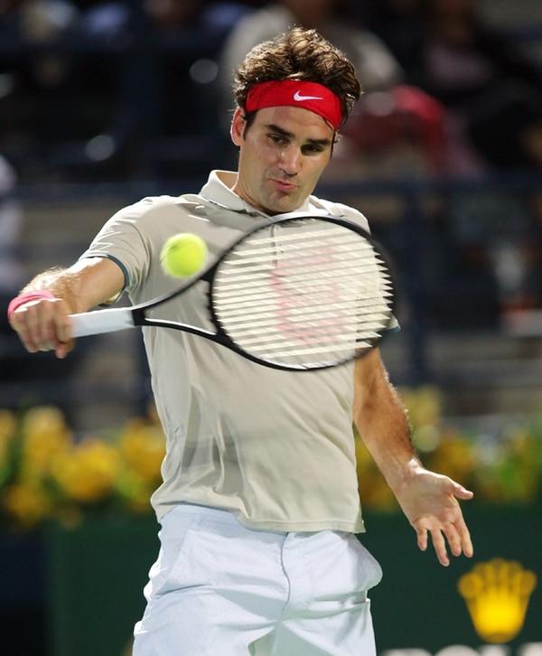 Roger Federer está en busca de su quinto título en el Abierto de Dubai. La última vez que lo ganó fue hace dos años.   EFE