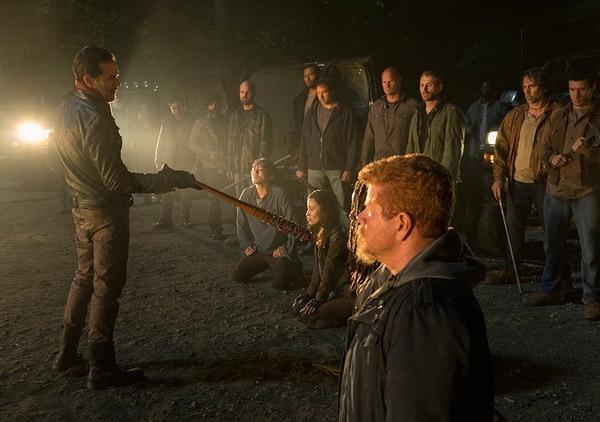 Abraham (Michael Cudlitz) previo a ser ejecutado por Negan.