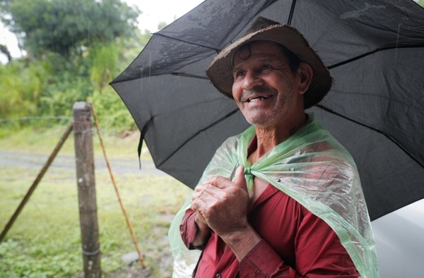 Gerardo Figueroa es un agricultor de 67 años de edad y habita en Jeta Tuerta desde hace 52 años. Foto Jeffrey Zamora.